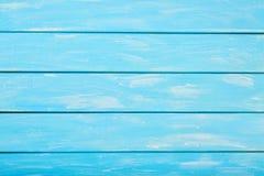 Il blu dipinto ha colorato il fondo di legno, fondo di legno pastello per progettazione Immagine Stock Libera da Diritti