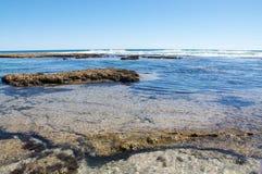 Il blu fora le pozze di marea Fotografia Stock Libera da Diritti