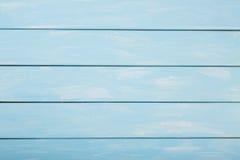 Il blu ha colorato il fondo di legno, fondo di legno pastello Fotografia Stock