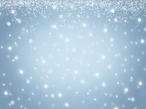 Il blu ha offuscato il fondo astratto di struttura dei fiocchi di neve della neve del cielo dell'inverno di Natale illustrazione vettoriale