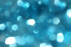 Il blu ha offuscato il fondo del bokeh, festa, festa, effetto della luce, b Immagini Stock