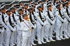 Il blu marino custodire-de-honor il contingente Immagini Stock Libere da Diritti