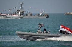 Il blu marino egiziano che celebra il revelotion Fotografie Stock Libere da Diritti