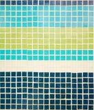 Il blu navy, l'azzurro, verde chiaro e bianco piastrella il fondo, passo Fotografie Stock