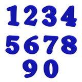 Il blu numera l'illustrazione 3D illustrazione vettoriale