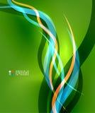 Il blu ondeggia su verde Fotografie Stock