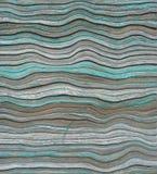 Il blu ondulato del mare ha dipinto il fondo di legno dell'otturatore del rullo Fotografie Stock