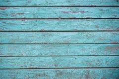 Il blu sbiadito ha dipinto la struttura, il fondo e la carta da parati di legno Composizione orizzontale fotografia stock