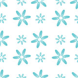Il blu senza cuciture del modello sguscia i fiori delle cozze Immagine Stock