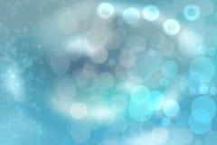 Il bokeh blu astratto di alleggerimento circonda dalle bolle del unterwater Bella struttura blu illustrazione vettoriale