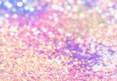 il bokeh Colorfull ha offuscato il fondo astratto per il compleanno, l'anniversario, le nozze, la vigilia del nuovo anno o il Nat immagine stock