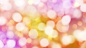 Il bokeh rosa ed arancio variopinto di festa accende il fondo, video di HD illustrazione di stock