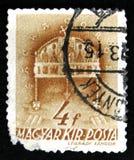 Il bollo dell'Ungheria mostra la corona santa di St Stephen, 900th anniversario della morte di St Stephen, circa 1938 Immagine Stock
