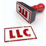 Il bollo della società a responsabilità limitata del LLC segna l'approvazione con lettere Certifi Fotografia Stock Libera da Diritti