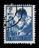 Il bollo ha stampato in Romania dalle professioni di serie Fotografia Stock Libera da Diritti