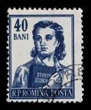 Il bollo ha stampato in Romania dalle professioni di serie Immagini Stock