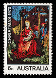 Il bollo stampato in Australia mostra Madonna ed il bambino, dipingenti da William Beasley Fotografie Stock Libere da Diritti