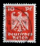 Il bollo stampato nell'impero tedesco mostra la stemma della Germania Fotografia Stock Libera da Diritti