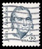 Il bollo stampato in U.S.A. mostra John J audubon Immagini Stock Libere da Diritti