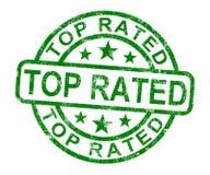 Il bollo stimato superiore mostra i migliori servizi o i prodotti Immagini Stock Libere da Diritti