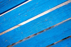 Il bordo anziano dipinto blu Fotografia Stock