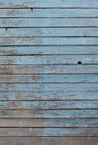 Il bordo anziano dipinto con pittura blu Fotografia Stock