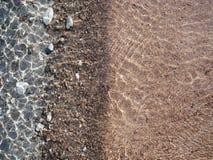 Il bordo dell'acqua, Corsica Fotografia Stock Libera da Diritti