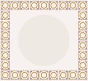 Il bordo della presentazione per uno del logo del segno di Solomon più conosciuto con i medio evo differenziali colora lo schema illustrazione di stock