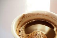 Il bordo della tazza di caffè Immagini Stock