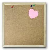 Bordo di carta rosa del sughero del fondo della nota Immagini Stock Libere da Diritti