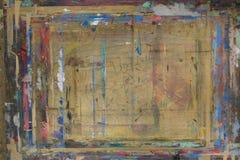 Il bordo di Painterspruzzato con il fondo 8 di colori immagine stock libera da diritti