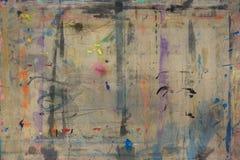 Il bordo di Painterspruzzato con il fondo 7 di colori immagini stock libere da diritti