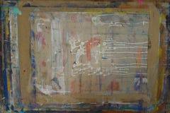 Il bordo di Painterspruzzato con il fondo 4 di colori fotografia stock libera da diritti