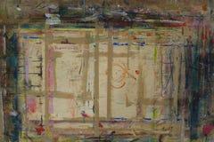 Il bordo di Painterspruzzato con il fondo 1 di colori immagine stock libera da diritti