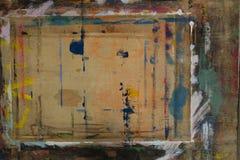 Il bordo di Painterspruzzato con il fondo 2 di colori fotografie stock libere da diritti