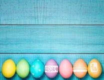 Il bordo di Pasqua eggs il testo 3D Fotografia Stock Libera da Diritti
