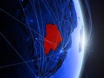 Il Botswana su terra digitale blu blu fotografie stock libere da diritti