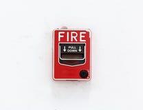 Il bottone dell'allarme antincendio Immagine Stock Libera da Diritti