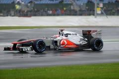 Il bottone di Jenson, mcclaren F1 Fotografia Stock