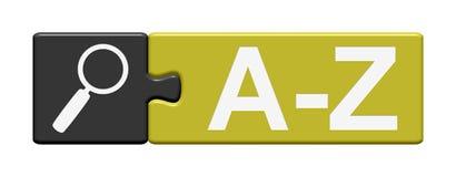 Il bottone di puzzle mostra il A-Z Fotografia Stock