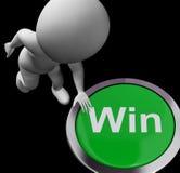 Il bottone di vittoria mostra Victory Or First Place illustrazione vettoriale