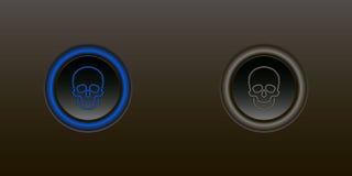 Il bottone permette a disattiva Fotografie Stock Libere da Diritti