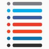Il bottone piano di rettangolo e del cerchio ha messo con colore moderno UI, GUI Immagini Stock Libere da Diritti