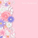 Il bouganvilla di carta di Flower Fondo Illustrazione di vettore Immagine Stock Libera da Diritti