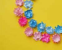 Il bouganvilla di carta di Flower Radura dei fiori colorati multi pasqua Sorgente Giorno del `s del biglietto di S Fotografie Stock Libere da Diritti