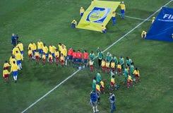 Il Brasile & Bafana Bafana - foto del gruppo Fotografia Stock Libera da Diritti