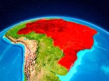 Il Brasile dall'orbita Immagini Stock