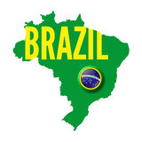 Il Brasile. Fondo per le vostre presentazioni illustrazione vettoriale