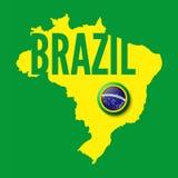 Il Brasile. Fondo per le vostre presentazioni illustrazione di stock