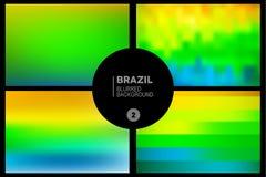 Il Brasile ha offuscato gli ambiti di provenienza messi Immagini Stock Libere da Diritti